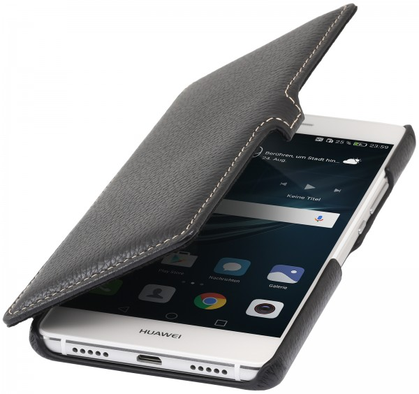 StilGut - Huawei P9 lite cover Book Type in leather with clip