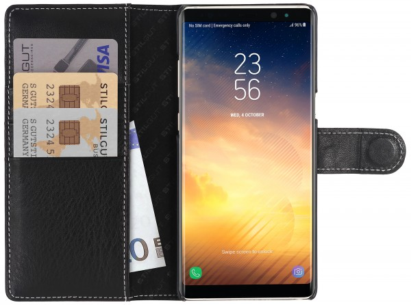 StilGut - Samsung Galaxy Note 8 Cover Talis with Card Holder
