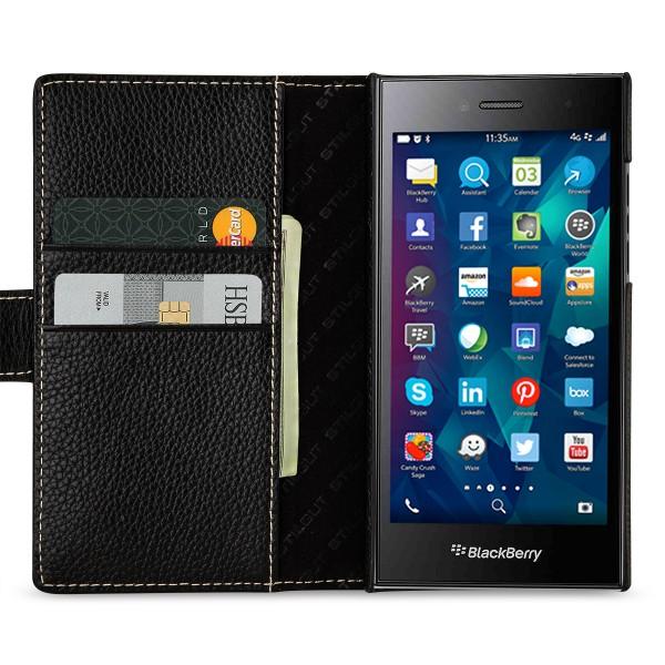StilGut - Blackberry Leap leather cover Talis card holder
