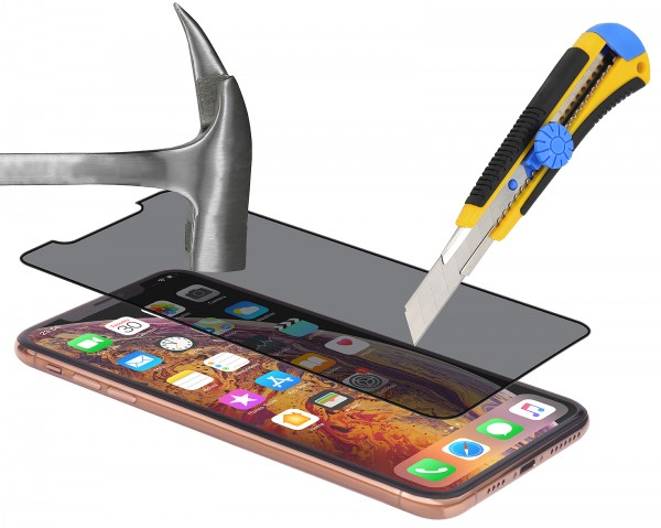 StilGut - iPhone XR Privacy Tempered Glass 3D Full Cover