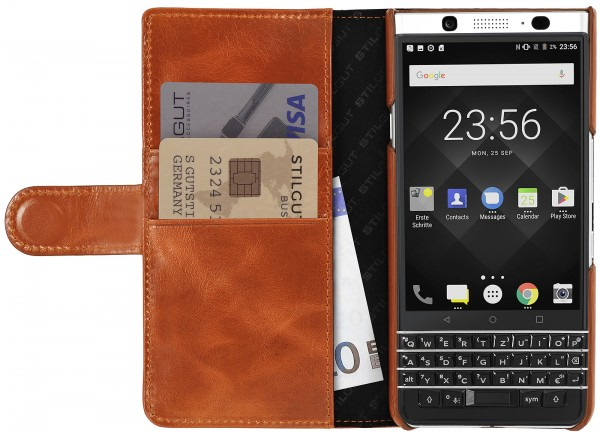 StilGut - BlackBerry KEYone Cover Talis with Card Holder